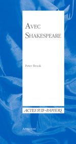 Couverture Avec shakespeare