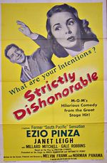 Affiche Strictly Dishonorable