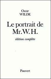Couverture Le portrait de Mr W.H.