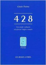 Couverture 428 : une année ordinaire à la fin de l'empire romain