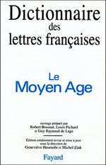 Couverture Dictionnaire des lettres françaises
