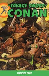Couverture The Savage Sword of Conan, Volume 5