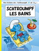 Couverture Schtroumpf les bains - Les Schtroumpfs, tome 27