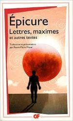 Couverture Lettres, maximes et autres textes