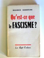 Couverture Qu'est ce que le fascisme ?