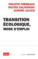 Couverture Transition écologique, mode d'emploi