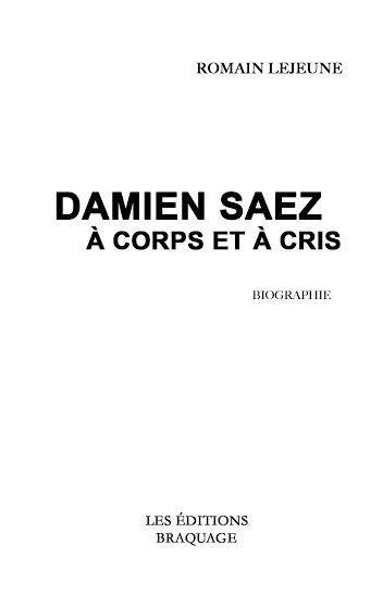 Avis Sur Le Livre Damien Saez à Corps Et à Cris 2014 Par Bidoudoume Senscritique