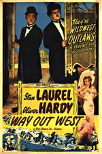 Affiche Laurel et Hardy au Far West