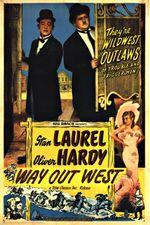 Affiche Laurel et Hardy au Far West