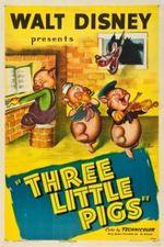 Affiche Les trois petits cochons