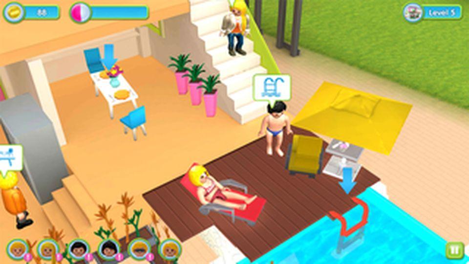 Affiches posters et images de la maison moderne playmobil for Maison moderne jeu