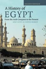 Couverture A history of egypt