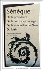 Couverture De la providence - De la constance du sage - De la tranquillité de l'âme - Du loisir