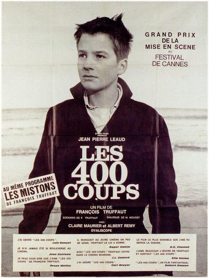 Affiches posters et images de les quatre cents coups 1959 - Programme cinema angers 400 coups ...
