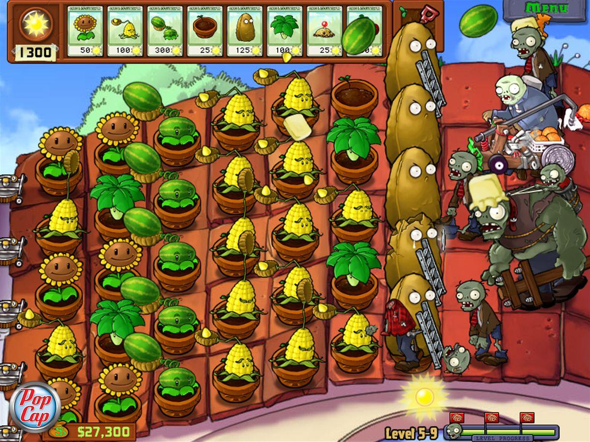 Plantes contre zombies 2009 jeu vid o senscritique for Plante zombie