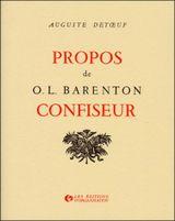 Couverture Propos de O. L. Barenton - Confiseur