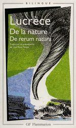 Couverture De la Nature - De rerum natura