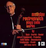 Pochette Mstislav Rostropovich Plays Cello Works