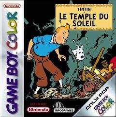 Jaquette Tintin : Le Temple du Soleil (8 bits)