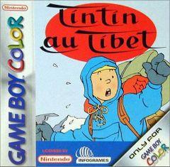 Jaquette Tintin au Tibet (8 bits)