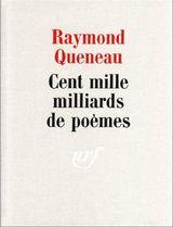 Couverture Cent mille milliards de poèmes