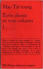Couverture Écrits choisis en trois volumes