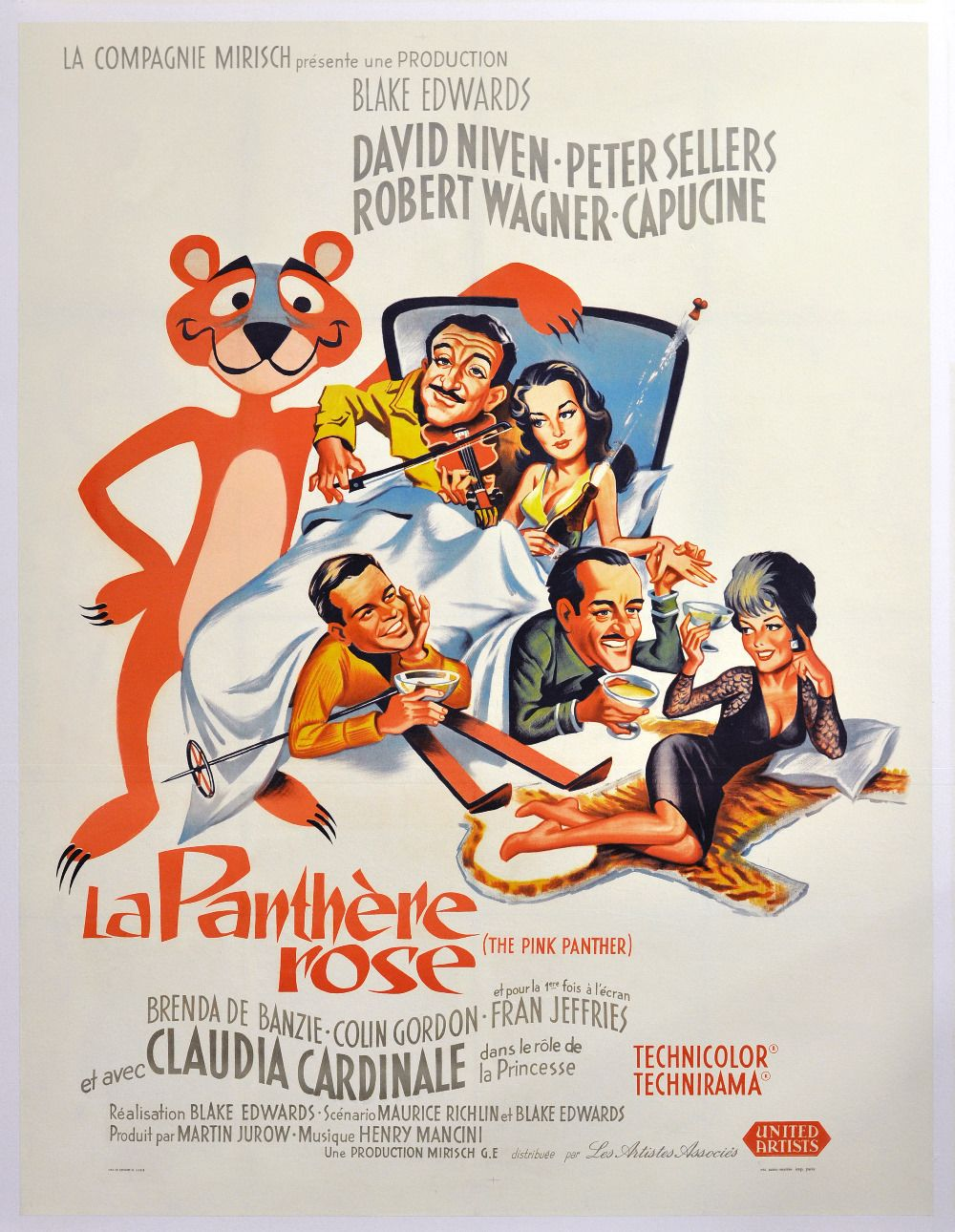 Affiches posters et images de la panth re rose 1963 - Rosier panthere rose ...