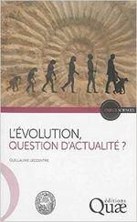 Couverture L'évolution, question d'actualité ?