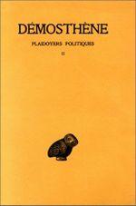 Couverture Plaidoyers politique