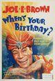 Affiche When's Your Birthday?