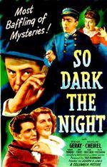 Affiche So Dark the Night