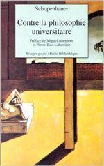 Couverture Contre la philosophie universitaire
