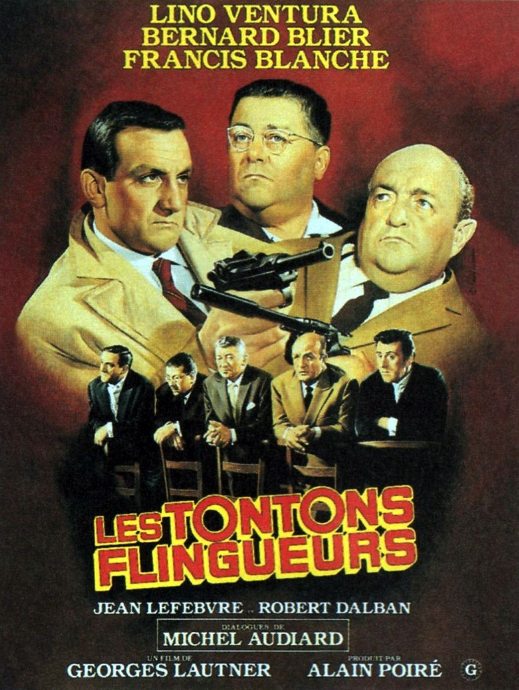 affiches posters et images de les tontons flingueurs 1963. Black Bedroom Furniture Sets. Home Design Ideas