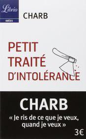 Couverture Petit traité d'intolérance