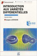Couverture Introduction aux variétés différentielles