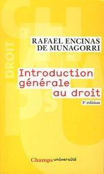 Couverture Introduction générale au droit