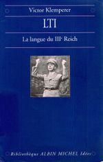 Couverture LTI, la langue du IIIe Reich