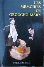 Couverture Les mémoires de Groucho Marx