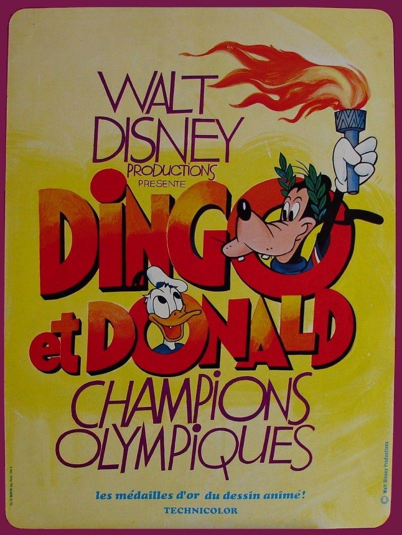 Dingo et donald champions olympiques court m trage 1972 - Donald et dingo ...