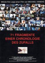 Affiche 71 fragments d'une chronologie du hasard