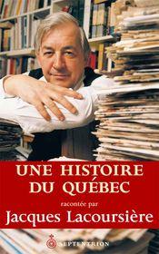 Couverture Histoire du Québec