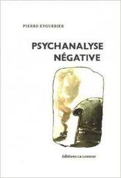 Couverture Psychanalyse négative