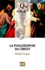 Couverture La philosophie du droit