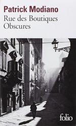 Couverture Rue des boutiques obscures
