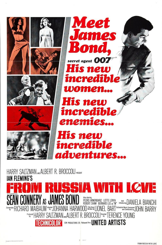 affiches posters et images de bons baisers de russie 1963. Black Bedroom Furniture Sets. Home Design Ideas