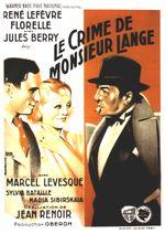 Affiche Le Crime de Monsieur Lange