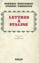Couverture Lettres à Staline