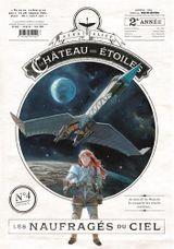 Couverture Le château des étoiles, Tome 4 : Les naufragés du ciel