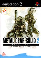 Jaquette Metal Gear Solid 2 : Substance
