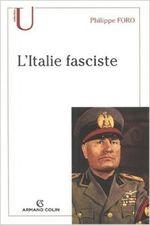 Couverture L'Italie fasciste